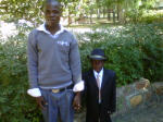 Ernest with his younger brother Daniel before the ceremony.